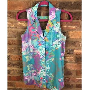 New Beautiful Floral Watercolor blouse